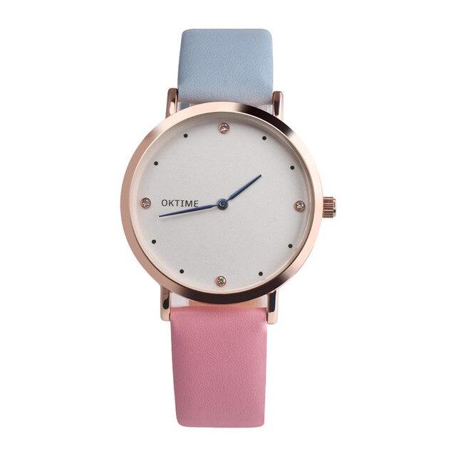 ew Fashion Quartz Watch Women Girl Retro Leather Band Analog Alloy Quartz Wrist
