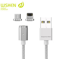 WSKEN Mini 2 Magnetic Cable For iphone Cable Micro USB Magnetic Charger Fast Charging Cable For SAMSUNG S7 Edge HAUWEI XIAOMI