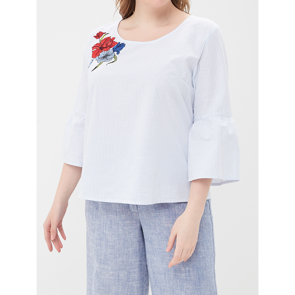 Blouses & Shirts MODIS M181W00700 women blouse shirt  clothes apparel for female TmallFS t shirts befree shirt for female cotton shirt short sleeve women clothes apparel 1811579424 54 tmallfs