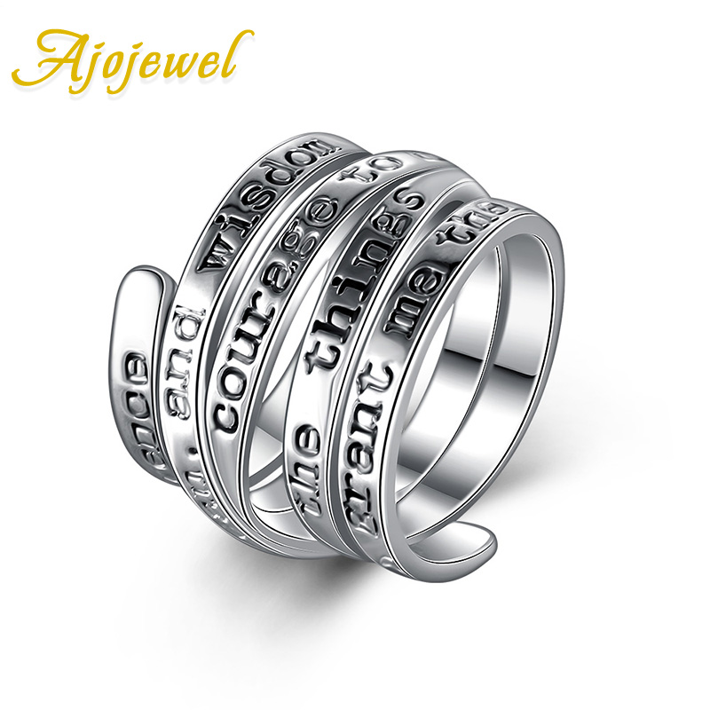 Ajojewel Special Letter Multilayer Rings For Men and Women Punk Style Ring