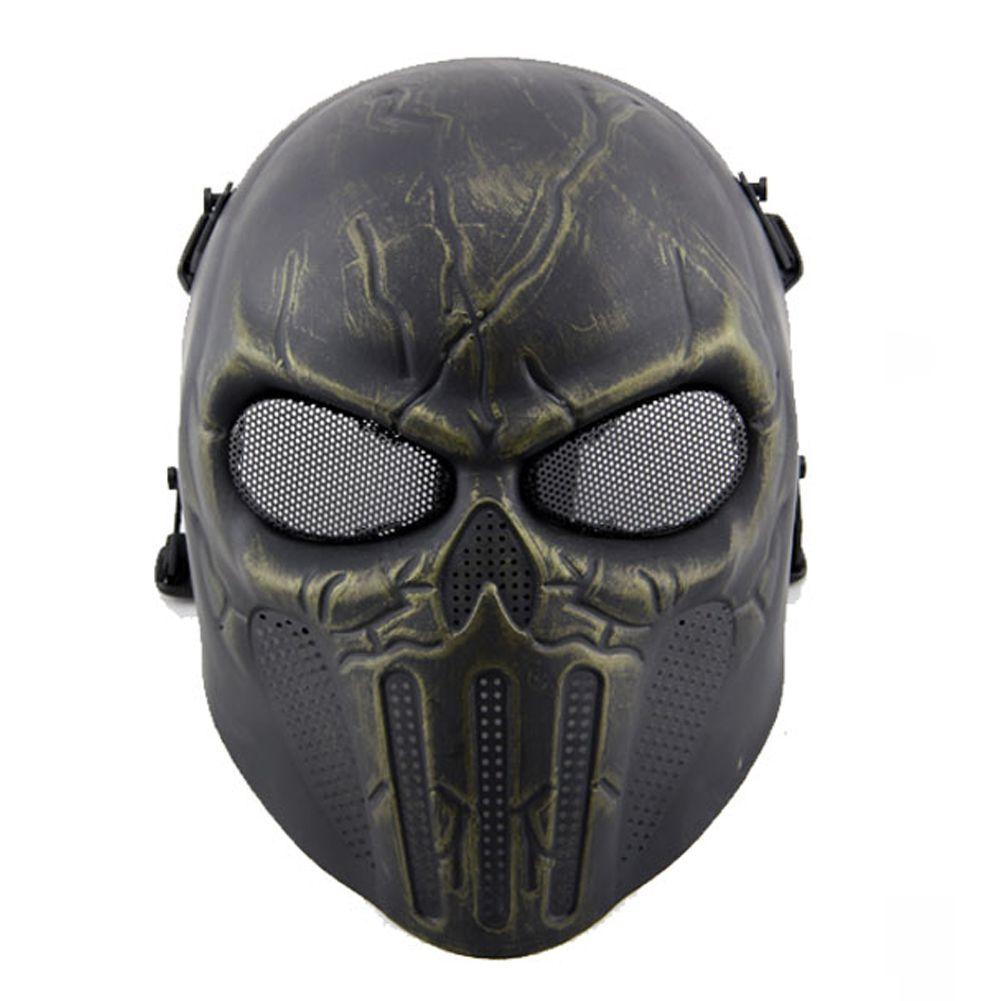Plastic Skull Party Masks Ear Protection Full Face Mask Simulation ...