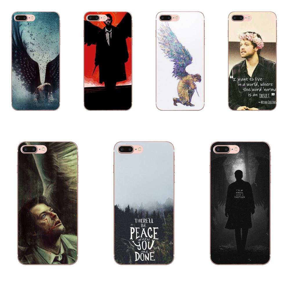 For Xiaomi Redmi Mi Note 7 8 9 SE Pro Lite Go Play Soft Cell Case Castiel Cas Supernatural image