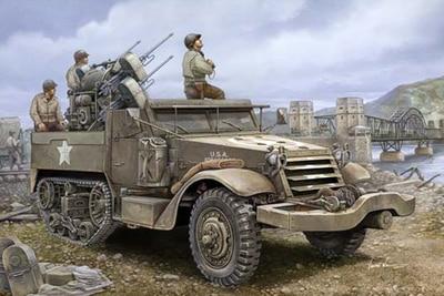 ФОТО trumpeter model kit 1/16 m16 multiple-gun motor carriage armored 00911 us