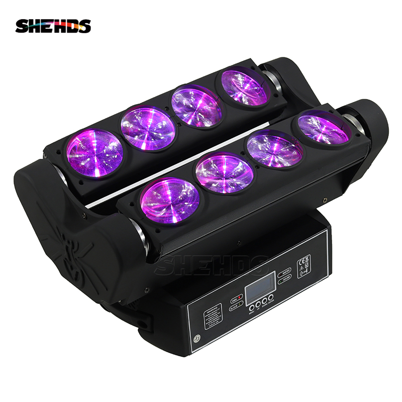 LED Beam Spider Moving Head 8x10W RGBW Lighting Bar Beam Moving Head Stage Lighting DMX 512 SHEHDS DJ Equipment Fast Shipping show time high quality 8x10w mini led spider light dmx 512 led rgbw beam moving head light club dj disco stage lighting ktv bar
