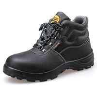 AC11012 Leve E Respirável Sapatos De Trabalho De Segurança Punção Alta Superior Preto Proteção Do Seguro de Trabalho Sapatos 2019|Botas de segurança| |  -