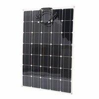 Новый 150 W монокристаллического Панели Солнечные с MC4 разъемы гибкие солнца Мощность зарядное устройство высокая эффективность RV лодка Пита