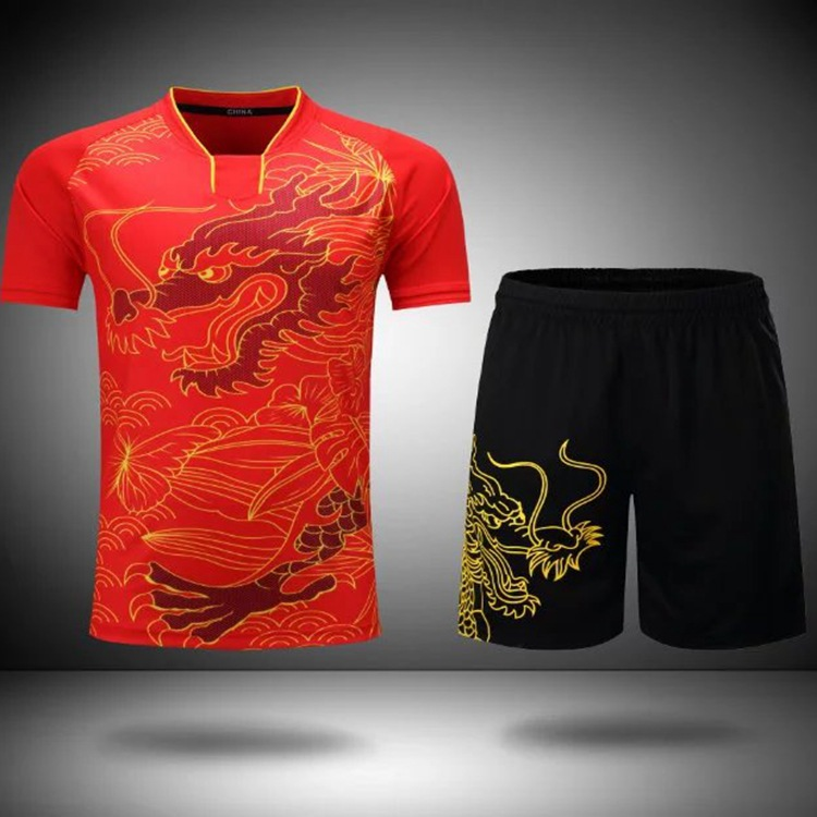 2019 New Quality Table Tennis LN Clothes Pingpong Set China Team Uniform Kids Sportswear Training Jersey Suit Shirt Short XS-4XL(China)