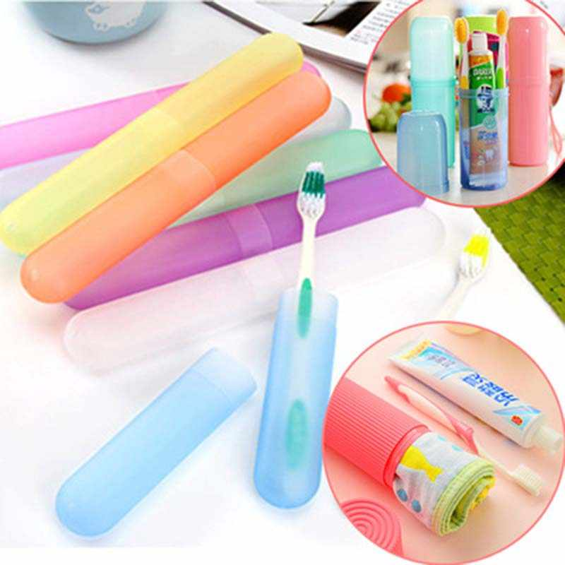 Portable Travel Toothbrush Holder cover Toothpaste Box Camping Outdoor Household Storage Cup box Bathroom Accessories 1piece