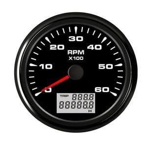Image 1 - 85 มม.รถยนต์เรือ TACHOMETER Marine Tacho LCD เครื่องวัดความเร็วรอบ 6000/8000 RPM TACHOMETER 7 สี Backlight สำหรับ Audi A4 BMW e46 Toyota