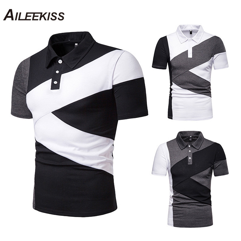 US Size Men Summer   Polo   Shirt 2019 Brand Men's Fashion Short Sleeve   Polo   Shirts Male Solid Jersey Breathable Man Tops Tee XT803