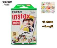 Novo 10 pçs/caixa fujifilm instax mini 8 filme 10 folhas para câmera Instantânea mini 7 s 25 50 s 90 Foto Papel Branco Borda 3 polegada de largura filme