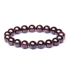 Natural Garnet Stone Femme Wine Red Beaded Bracelet Men Jewe