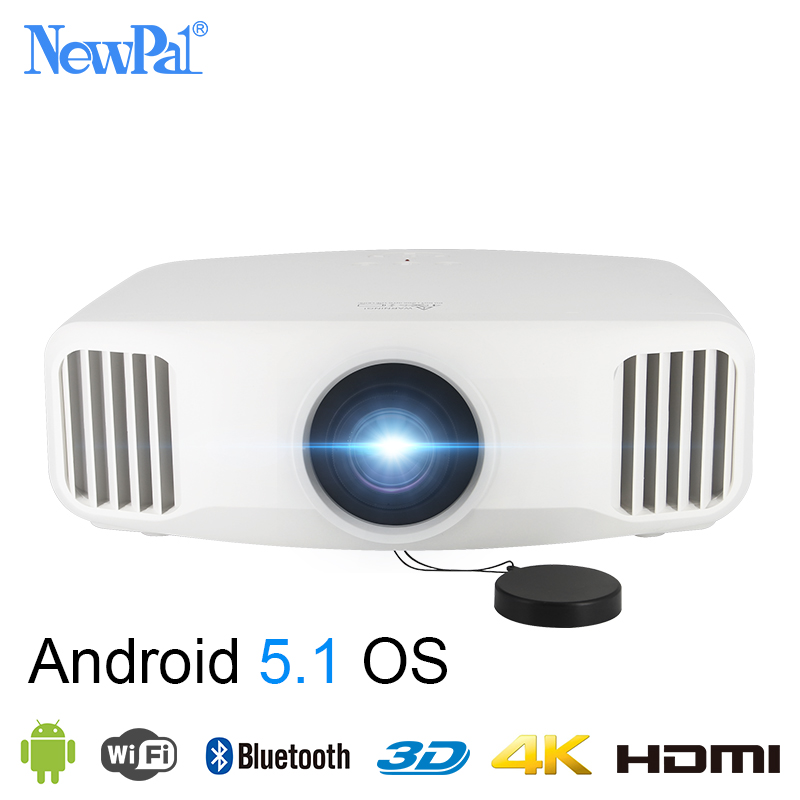Newpal X8000 DLP font b Projector b font 3300Lumens Full HD Android WIFI Home Business font