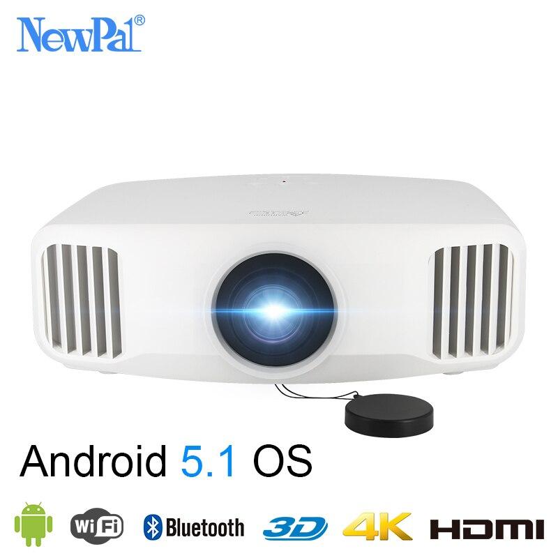 Newpal X8000 Proyector DLP 3300 Lumens Full HD Android WIFI negocio en casa, Proyector 3LCD de cine en casa Beamer Proyector