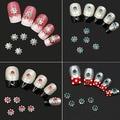 Alta Qualidade 10 Pcs Estrela Da Arte Do Prego Adesivos Strass Liga de beleza UV Gel Dicas Manicure DIY Decalques