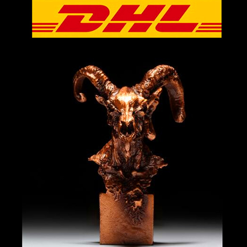 Bronze Sheep Statue Home Furnishings Antelope Crafts Sheep Head Bust HOME USE Action Figure Collectible Model Toy Boxed T97 s3886 chinese buddhism bronze kwan yin songziyuan guanyin bodhisattva boy god statue