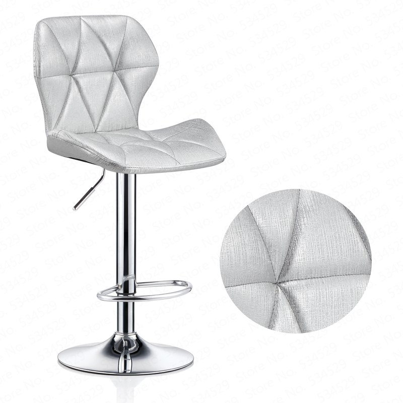 D,Bar Stools Modern Lifting Rotating PU Bar Chair High Stool With Backrest For Home Shop Multicolor