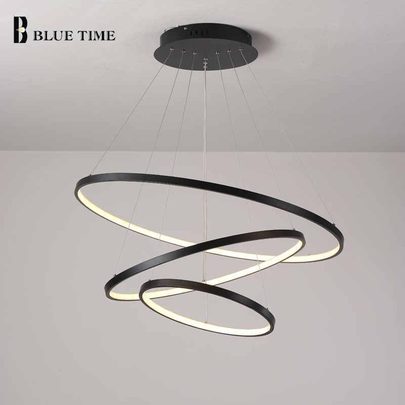 Lampara Colgante, современный светодиодный светильник, подвесной светильник, кольца, Потолочная люстра, светильник ing для гостиной, столовой, светильник, светильники