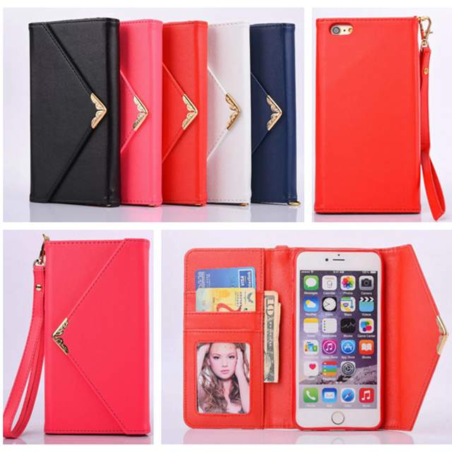 Luxury Envelop PU Leather Wallet Mini Handbag style Case Cover For iPhone 7 7Plus 6 6s Plus 5 SE 5s Phone Bag ...