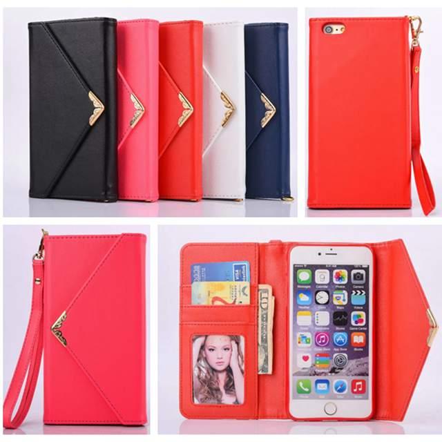 Luxury Envelop PU Leather Wallet Mini Handbag style Case Cover For iPhone 7 7Plus 6 6s Plus 5 SE 5s Phone Bag ...