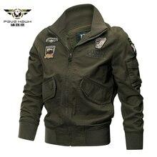 Esercito Pilot Bomber Tattico Giubbotti Uomini Air Force Cargo Cappotto di Autunno Sottile di tipo Militare Giacca Invernale Giacca di Cotone Giacca di Volo
