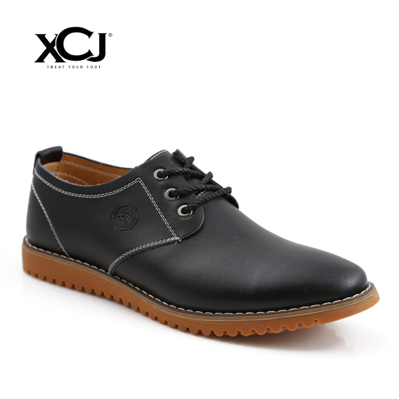 где купить XCJ Men Casual Shoes Spring Autumn Brand Men Shoes Men Sneakers Men Flats Genuine Split Leather Plus Big Size Slip On по лучшей цене