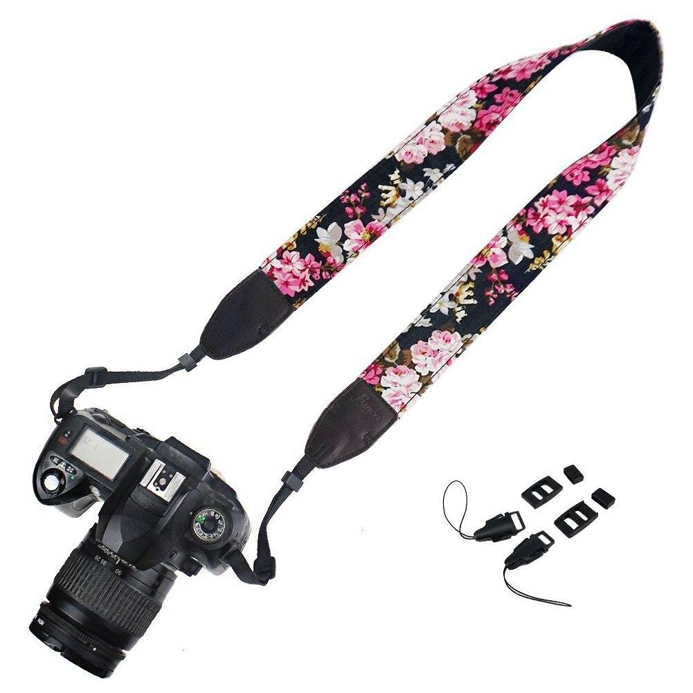W Mega Szyję pasek na ramię pasek do aparatu kwiat kwiatowy 5 kolor WE16