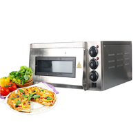 ITOP Electric Pizza Oven Cake Roasted Chicken Pizza Cooker Stainless Steel Commercial Use Baking Machine 220V With Pizza Stones