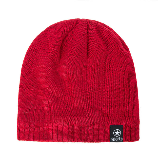 New Winter Solid Color Knitting Wool Hat 3