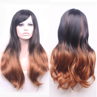 YXCHERISHAIR Synthetic Long Brown Wigs For Black Women Mixed Black Red Sexy Party Wig Perruque Costume
