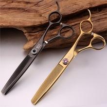 Fenice профессиональные высококачественные филировочные ножницы из нержавеющей стали 6,5 дюйма для ухода за домашними собаками, тоньше, истончение 35