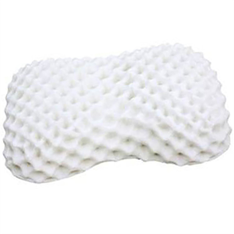Ventilated Dunlop 100% Natural  Peanut  Massage Latex Neck  Pillow With Inner Polyester Inner Cover and  Bamboo Fiber Out Cover dunlop winter maxx wm01 225 55 r17 101t