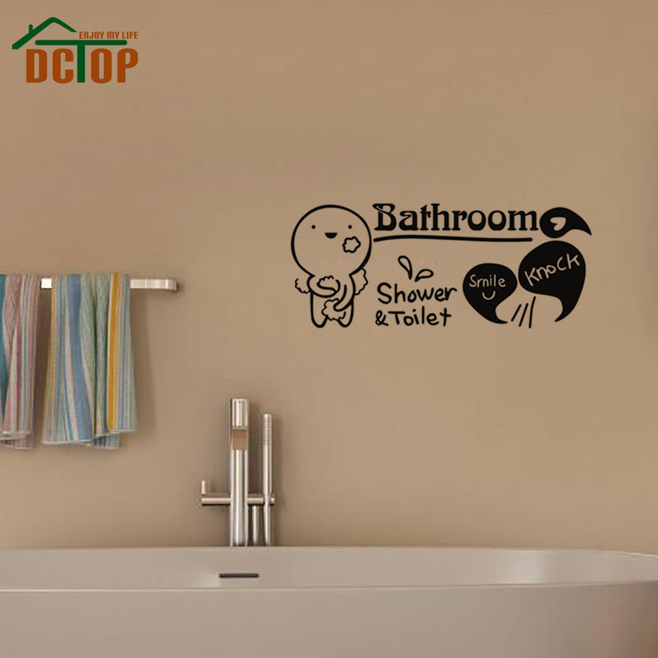 Online get cheap knock sticker aliexpress alibaba group dctop take a shower toilet and bathroom wall stickers home decor art vinyl knock decals for amipublicfo Choice Image