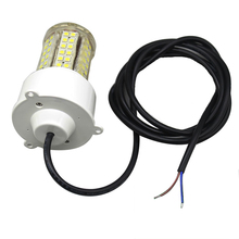 12W/18W LED Underwater Fishing Light Waterproof 360 Degree Fish Lure Lamp for 12V Marine Boat