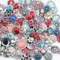 20pcs/lot mixed 18mm snaps Alloy Resin Fashion Snaps Buttons Fit ginger snaps jewelry snaps Bracelets