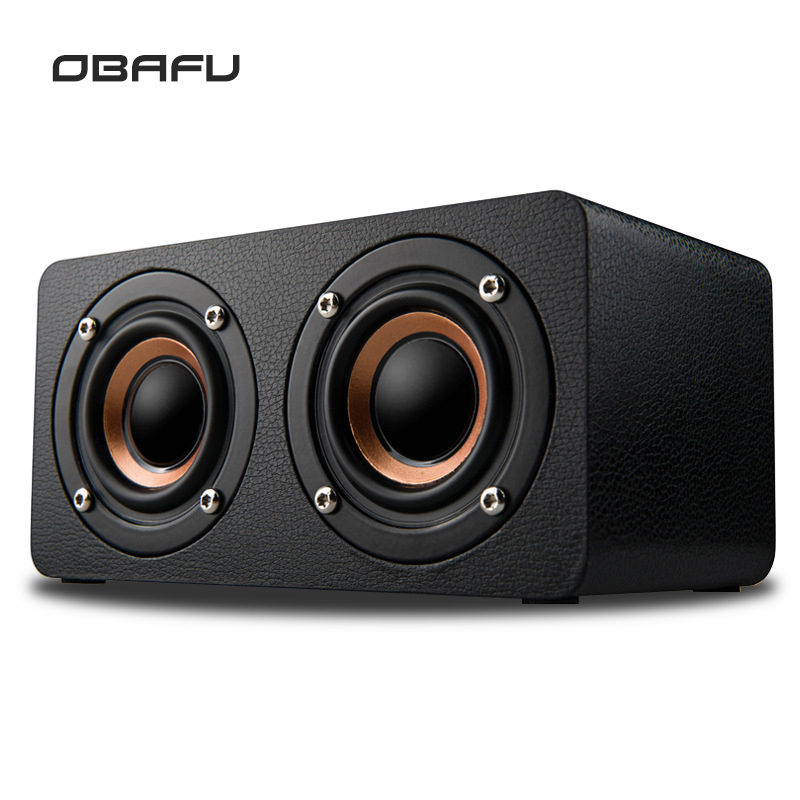 Portable Bluetooth Speaker Wireless 4.0 Dual Bass Stereo Speakers Outdoor Wooden Sound Box With FM Radio for Phone PC
