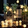 20 Bolas de Vime Levou Guirlandas de Casamento Ano Novo Fada Cordas Luz Decoração Enfeites de Árvore de Chirstmas Luzes de Iluminação Do Feriado