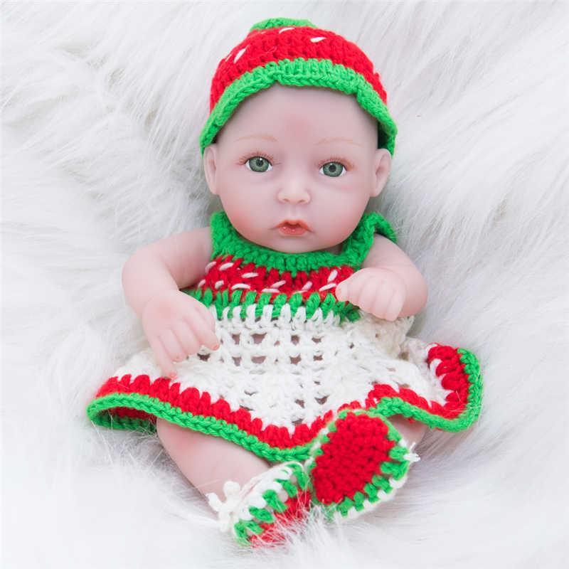 28 см/11 дюймов полное тело Silicione мягкий винил настоящий сенсорный Reborn Реалистичная кукла-младенец новорожденная милая девочка младенец Коллекционная кукла