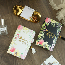 Lovedoki Flower Leather Cover Travelers Notebook Standard Journals Japanese 2019 Planner Sketchbook School Notebook Stationery