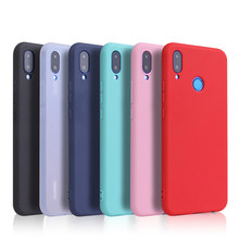 Color caramelo para Huawei Y9 2019 Y6 Y5 primer 2018 P20 P9 P10 Mate 10 Lite Honor 10 9 fundas suaves inteligentes Lite 7C 7A Pro 8X 8C P(China)