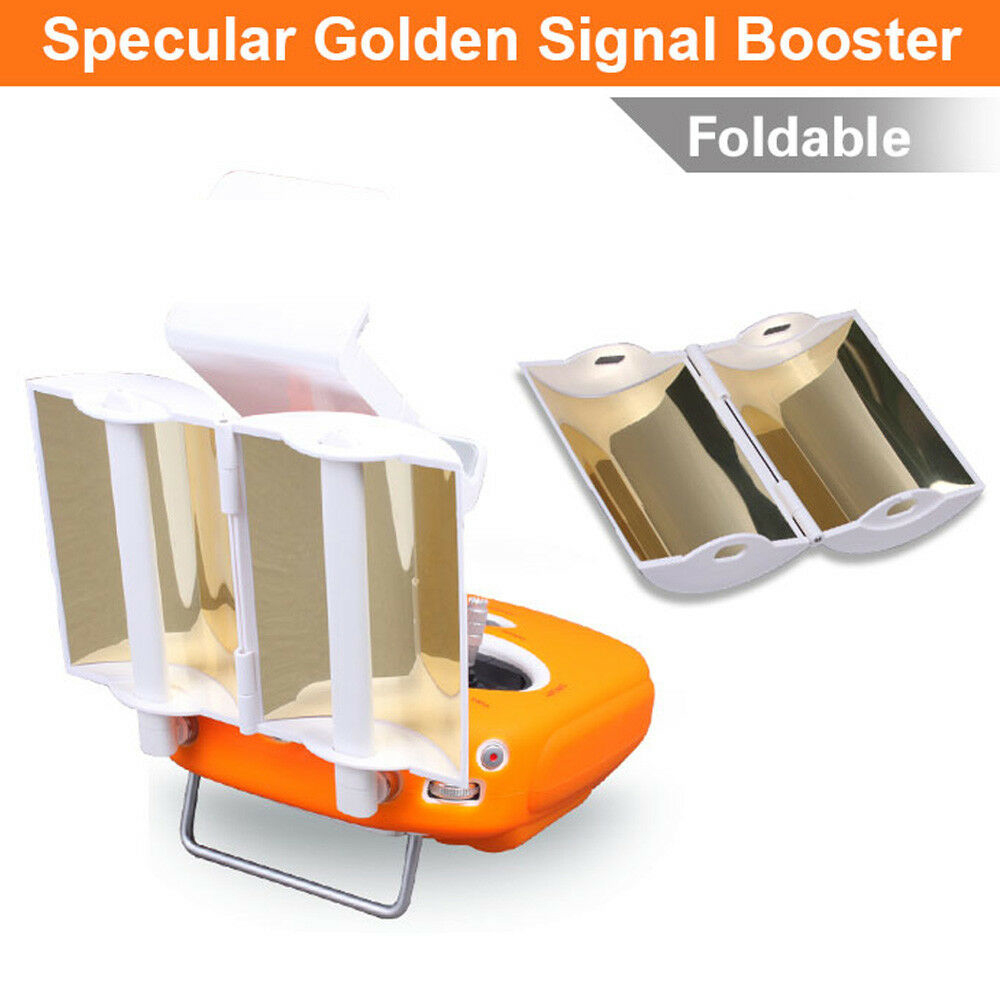 Antenna Signal Booster For DJI Phantom 3 4 Drone Golden Foldable Extended Range Parabolic Accessories