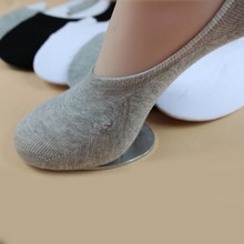 New Men Cotton Soft Low Cut Casual Loafer Boat Non-Slip Invisible No Show Socks 1 Pairs