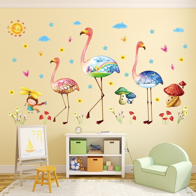 Household Decor Wall Decals Cartoon World Big Birds Wall Sticker ...