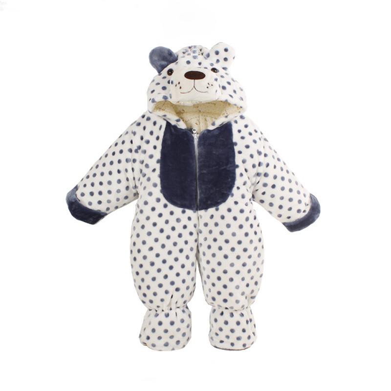Body with Long Sleeves Animal Tiger Bear Fleece Baby Romper Warm Overalls for Baby Newborn Winter Clothes Infant Clothing CL0431 newborn baby clothes winter long sleeves with feet baby boy girl clothes babies overalls ropa de bebe infant product baby romper