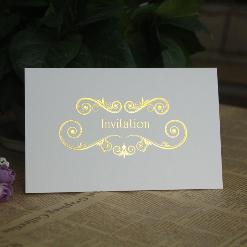 Two Fold Pages Business Invitations Formal Wedding