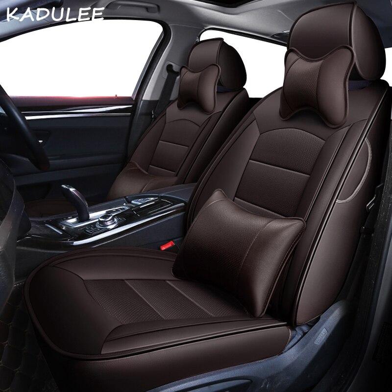 KADULEE personnalisé en cuir véritable housse de siège de voiture pour mercedes benz gl c180 c200 e300 w211 w203 w204 ML coussin de voiture sièges de voiture style - 5