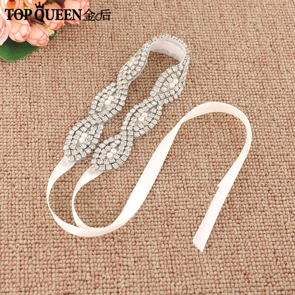 TOPQUEEN H293 Fashion Bridal Hair Accessories For Women Prepared By Diamond With Pearl Hairband Bride High Quality Hair Jewelry