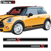 Car Styling boczne spódnica paski kalkomanie dla Mini Cooper S R56 R57 R58 R50 R52 R53 R59 R61 Countryman R60 f60 F55 F56 F54