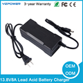 13.8V 8A/5A Rechargeable 3-Stage Smart Lead Acid Battery Charger for 12V Electric Scooter Lead Acid Battery
