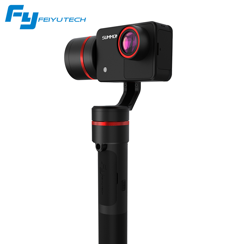 FeiyuTech Summon 3-Axis Handheld Gimbal Brushless Camera Stabilizer with 4K 1080P Action Cam 16 Mega Pixels 2.0 Inch HD